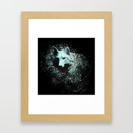 Of The White Wolf Framed Art Print