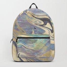 Liquid Gold Mermaid Sea Marble Backpack
