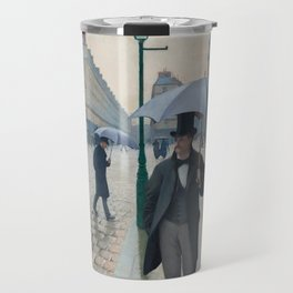 Paris Street; Rainy Day,  1877, Gustave Caillebotte Travel Mug