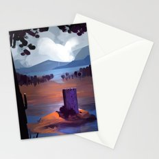 Castle landscape Stationery Cards