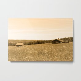 Cabin in the land Metal Print
