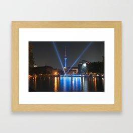 BERLIN lights on  Framed Art Print
