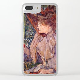 Woman with Gloves Clear iPhone Case
