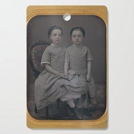 Sisters Daguerreotype by Jeremiah Gurney, 1857 Cutting Board