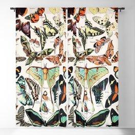 Adolphe Millot - Papillons pour tous - French vintage poster Blackout Curtain