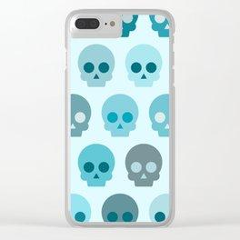 Colorful Skull Cute Pattern II Clear iPhone Case