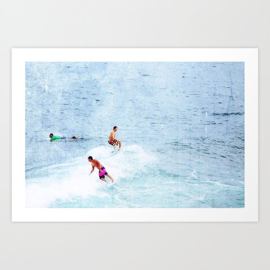 Surfing Time Art Print