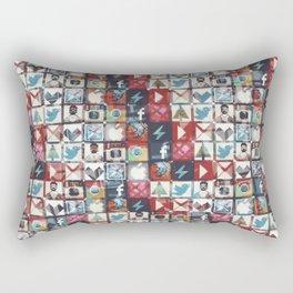 Corrupted pixel loop Rectangular Pillow