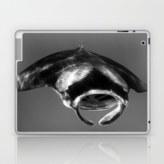 Manta Ray Black & White Laptop & iPad Skin