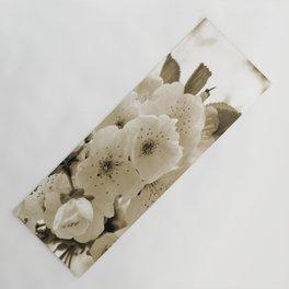 Cherry Blossoms Monochrome Yoga Mat