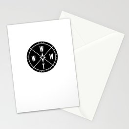We Who Wander Compass Stationery Cards