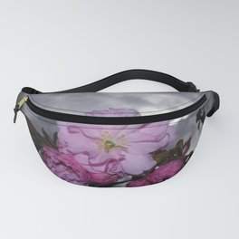 SPRING CHERRY BLOSSOM AND STORMY SKY Fanny Pack