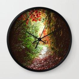 Autumn Tunnel Wall Clock