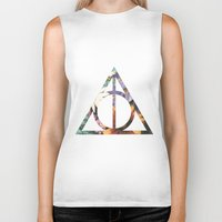 deathly hallows Biker Tanks featuring Deathly Hallows by Romana Catalini
