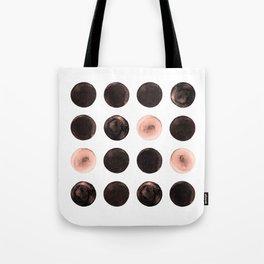 Rose Tinted Circles Tote Bag
