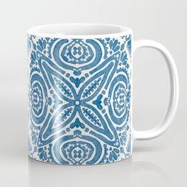 Blue Folk Azulejo Tile No.5 Coffee Mug