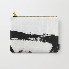 Brushstroke [8] - a simple, abstract, black and white india ink piece Carry-All Pouch
