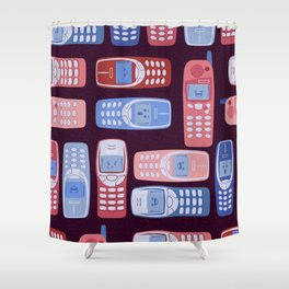 Vintage Cellphone Reactions Shower Curtain