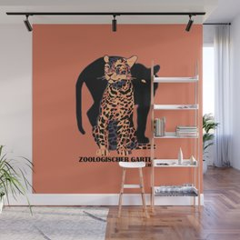 Retro vintage Munich Zoo big cats Wall Mural