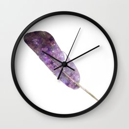 Cosmic Feather Wall Clock