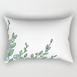 Floral Border Rectangular Pillow