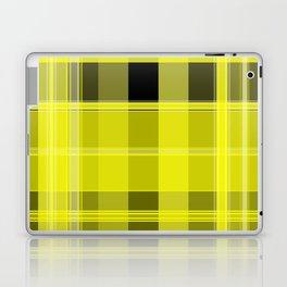 Yellow and Black Plaid Laptop & iPad Skin