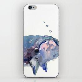 Rigth Whale artwork iPhone Skin