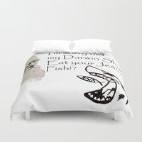 darwin Duvet Covers featuring Darwin Shark by A&N2218
