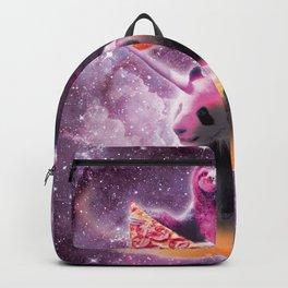 Space Pizza Sloth On Panda Unicorn On Hotdog Backpack
