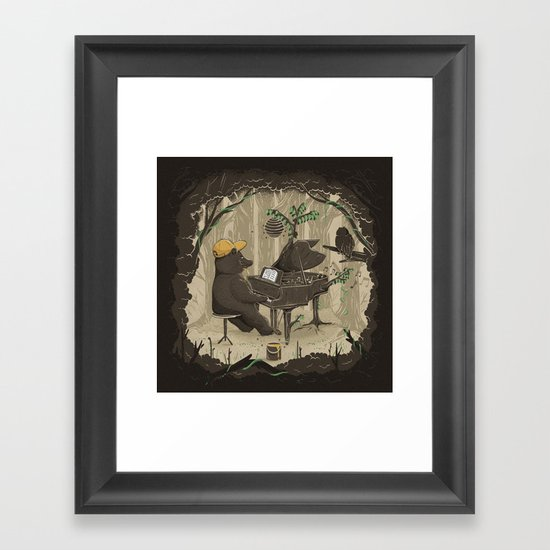 Forestal Sounds Framed Art Print
