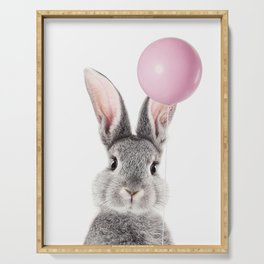 Bunny With Balloon Serving Tray