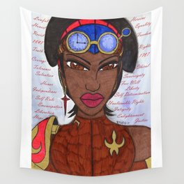 The Reasons of a Steampunk Liberator Wall Tapestry