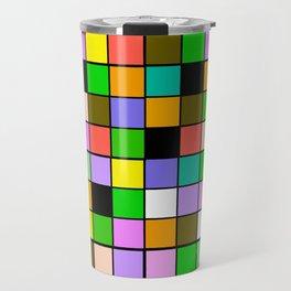 Checker Board Square Pattern Travel Mug