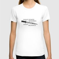 ouat T-shirts featuring OUAT Quote | Great power requires great sacrifice by CLM Design