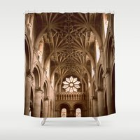 england Shower Curtains featuring Oxford, England by David Hohmann
