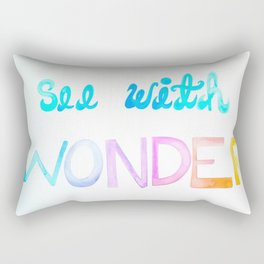See With Wonder Watercolor  Rectangular Pillow