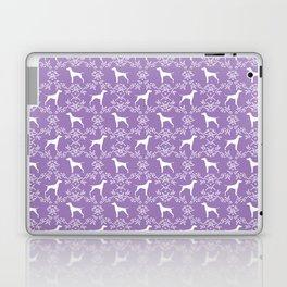 Vizsla dog breed minimal pattern floral lavender lilac dog gifts vizlas breed Laptop & iPad Skin