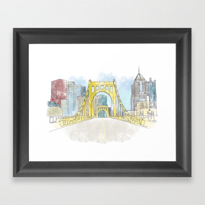 Roberto Clemente Bridge Gerahmter Kunstdruck