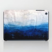 ombre iPad Cases featuring All good things are wild and free - Ocean Ombre Painting by Prelude Posters