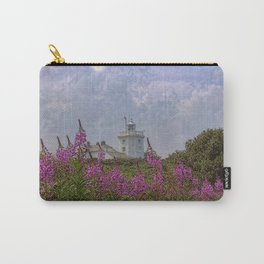 Purple flowers with Cromer  Carry-All Pouch