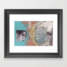 News Travels Fast Framed Art Print