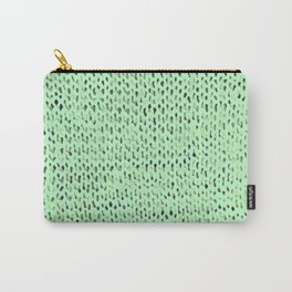 Mint Stockinette Carry-All Pouch
