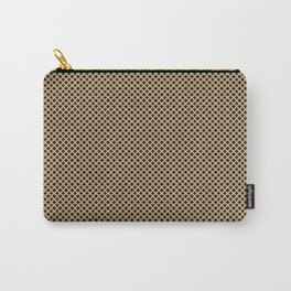 Modern Black and Gold Metal Diamond Pattern Carry-All Pouch
