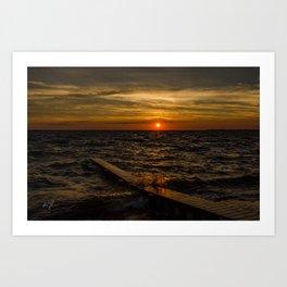 Sunset splash in Colington, NC Art Print