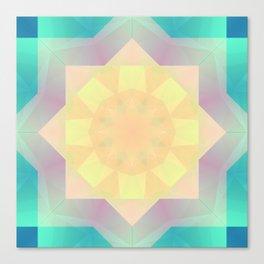 Abstract Pastel Flower Mandala Canvas Print