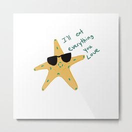 The Truth About Starfish Metal Print