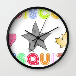 Disco Biscuits 2 Wall Clock