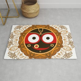 Jagannath. Indian God of the Universe. Lord Jagannatha. Rug