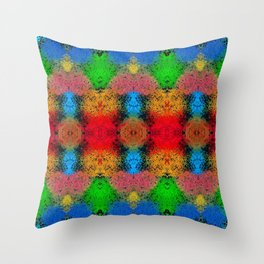 Colorful Goa Painting Throw Pillow