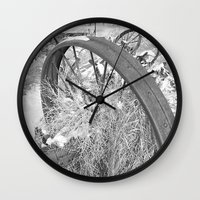 farm Wall Clocks featuring Farm by Justine O'Neil Photography